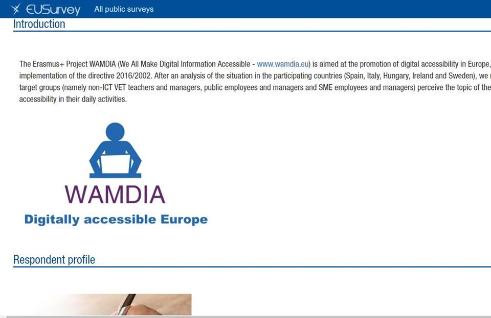 Wamdia's Online Survey